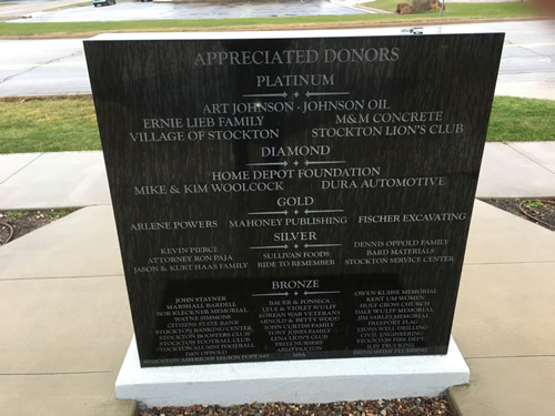 Stockton Honored Donors Monument